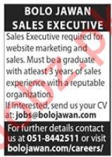 Bolo Jawan Documenting Pakistan Sales Executive Jobs 2020