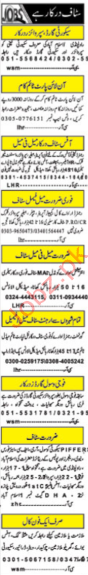 Security Staff Office Staff Jobs in Islamabad