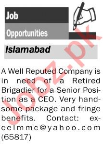 Chief Executive Officer CEO Jobs in Private Company