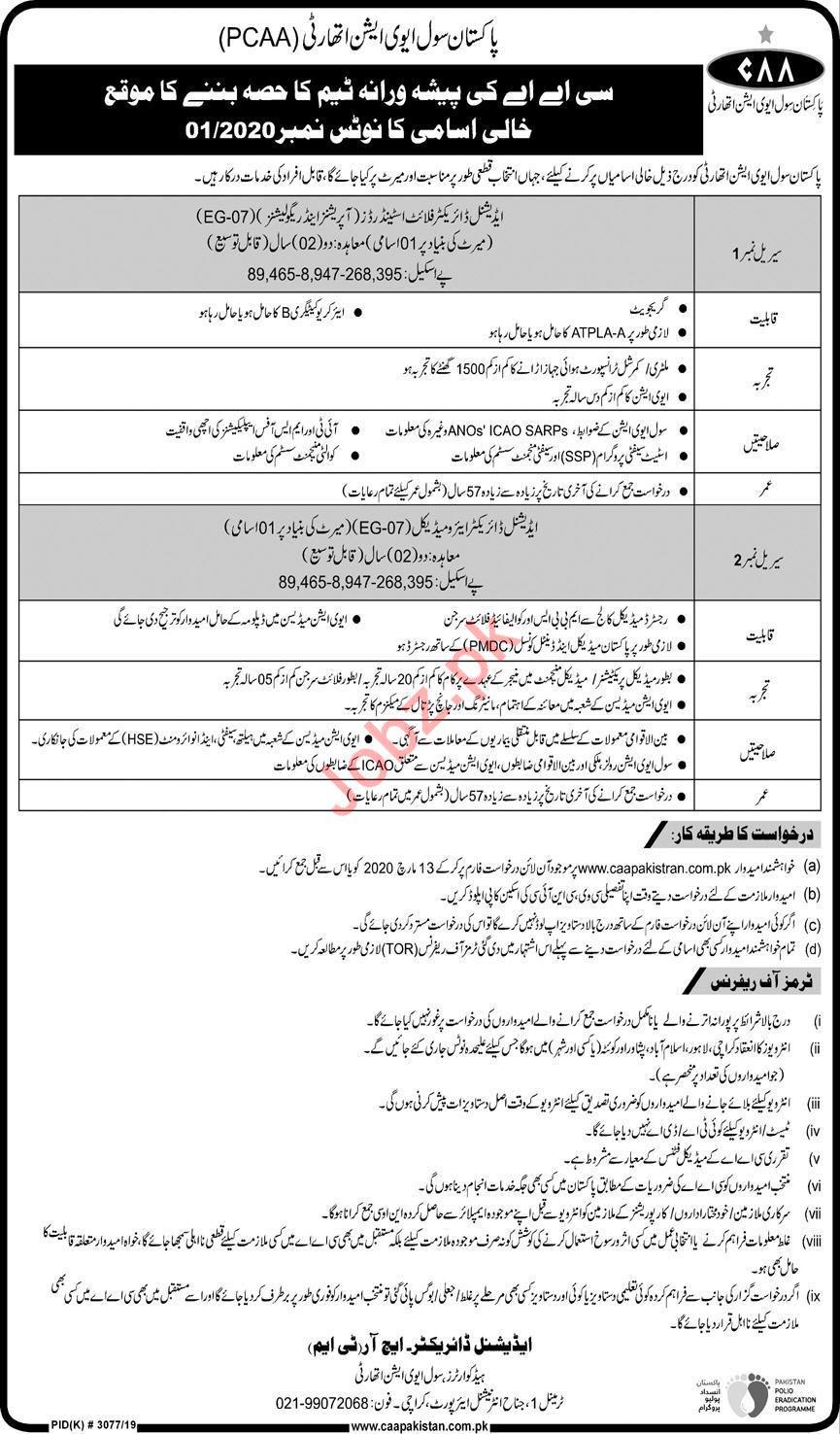 Management Jobs in Pakistan Civil Aviation Authority PCAA