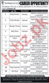 MicroMerger Pvt Ltd Jobs 2020 For Peshawar KPK