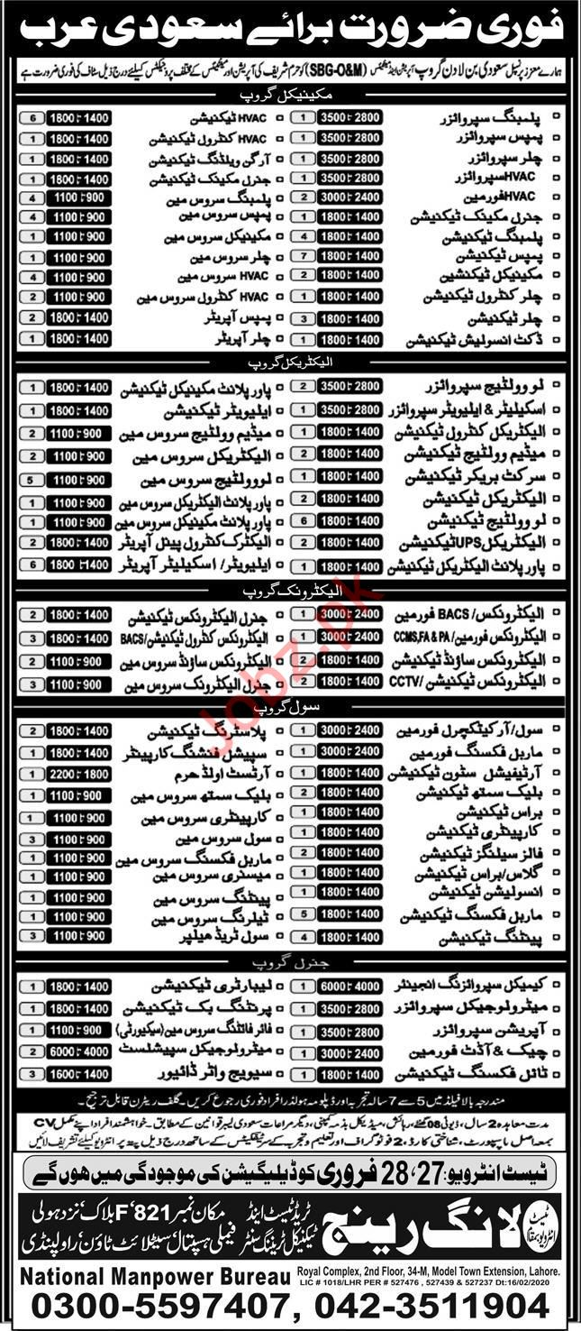 Saudi Bin Ladin Group Jobs 2020 For Saudi Arabia