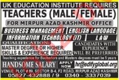 Teaching Staff Jobs in UK Education Institute