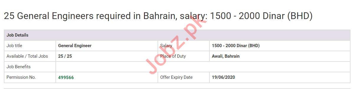 General Engineer Jobs in Awali Bahrain