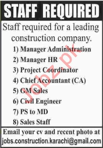 Manager Administration & Manager HR Jobs 2020 in Karachi