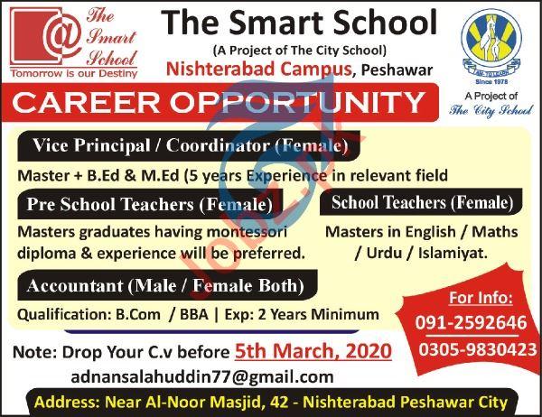 The Smart School Nishterabad Campus Peshawar Jobs 2020