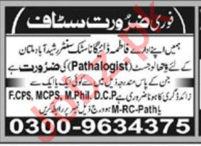 Fatima Diagnostic Center Rasheed Abad Multan Jobs 2020