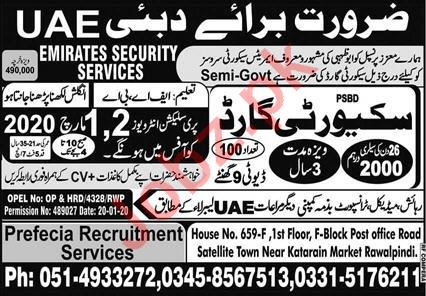Security Guards Jobs 2020 in Dubai