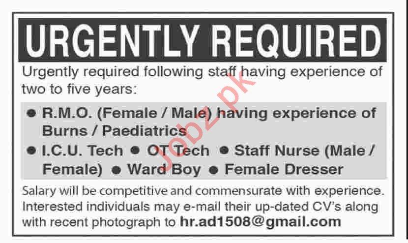 Resident Medical Officer & Technicians Jobs 2020