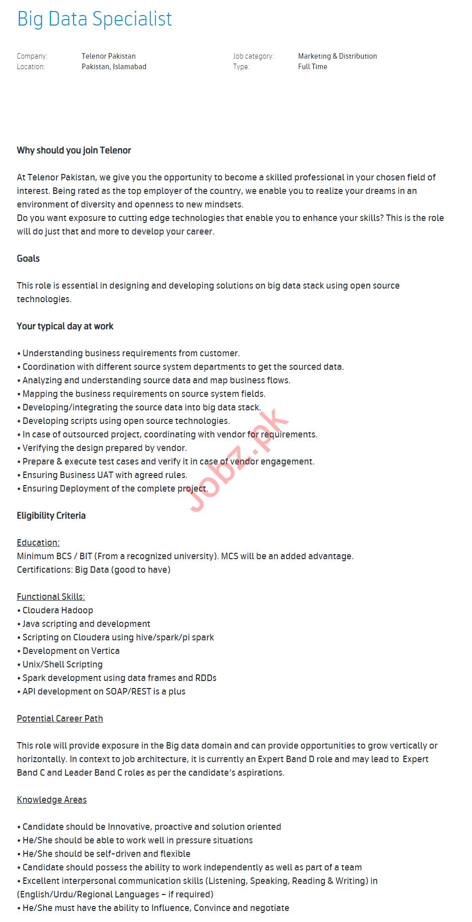 Trade Marketing Specialist & Big Data Specialist Jobs 2020