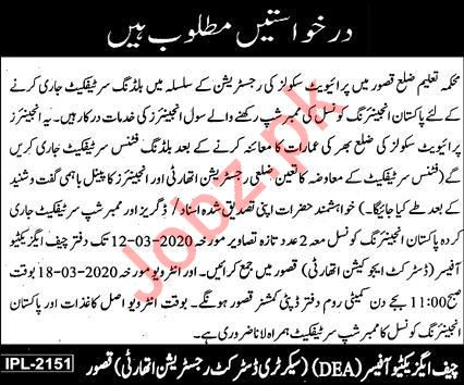 Education Department Jobs 2020 For Civil Engineers