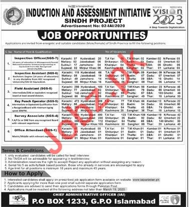 Induction and Assessment Initiative Jobs 2020 in Sindh
