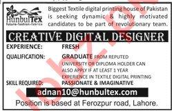 Creative Digital Designer Jobs in Textile Digital Printing
