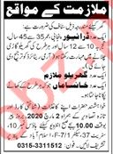 House Staff Jobs 2020 in Islamabad