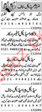 Dunya Sunday Classified Ads 1st March 2020 for Medical Staff