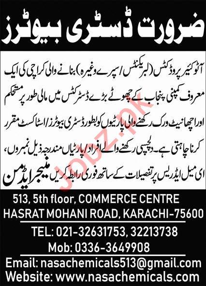 Nasa Chemicals Pvt Ltd Jobs 2020 For Distributors