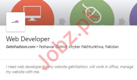 Web Developer Job 2020 For Peshawar KPK