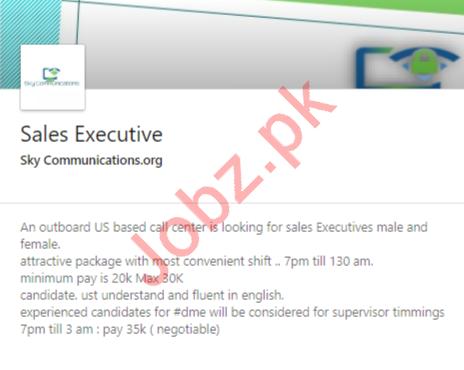 Sales Executive Job 2020 in Karachi