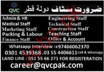 Management Staff Jobs in Doha Qatar
