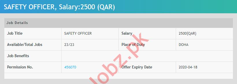 Safety Officer Jobs 2020 in Qatar