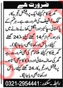 House Staff Jobs in Karachi fo House