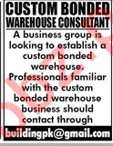Customer Bonded Warehouse Consultant Jobs in Private Company