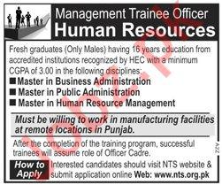 Management Trainee Officer MTO Job 2020 via NTS