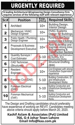 Architectural & Interior Design Consultancy Firm Jobs 2020