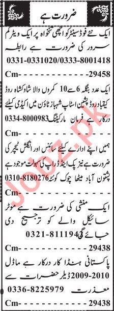 Male & Female Staff Jobs 2020 in Quetta