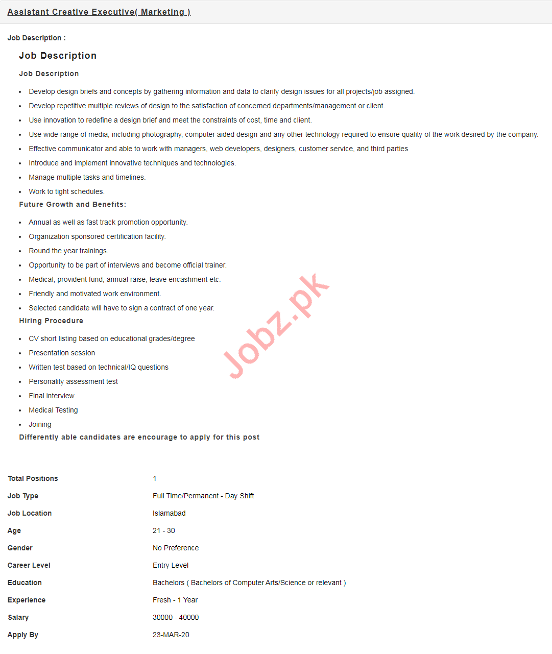 Assistant Creative Executive Jobs 2020 in Nayatel