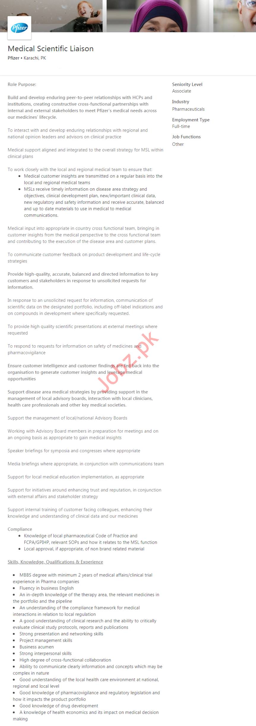 Medical Scientific Liaison Job 2020 in Karachi