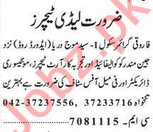 Teaching & Non Teaching Jobs in Farooqi Girls High School