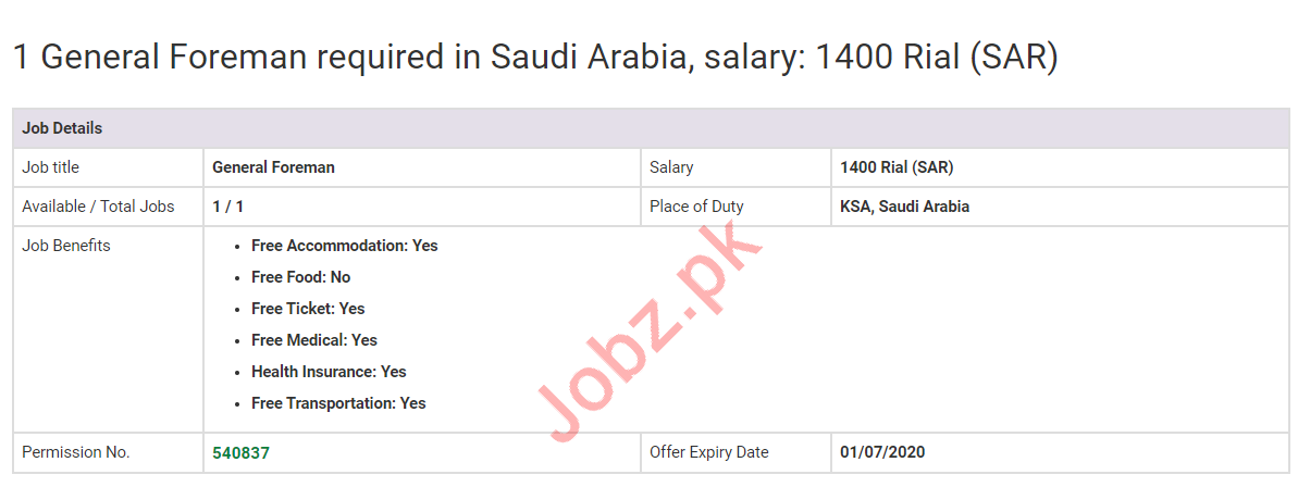 Electrical Instrument Labour Jobs 2020 in Saudi Arabia
