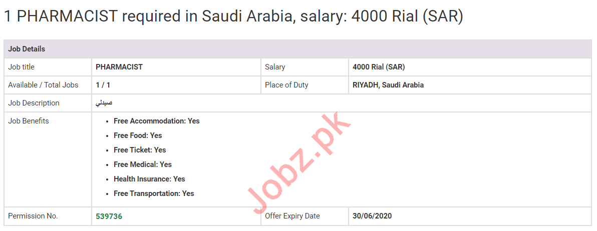 Pharmacist Jobs 2020 in Saudi Arabia