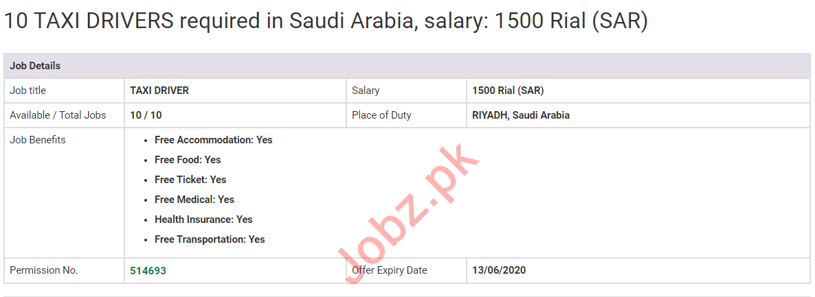 LTV Taxi Drivers Jobs 2020 in Riyadh Saudi Arabia
