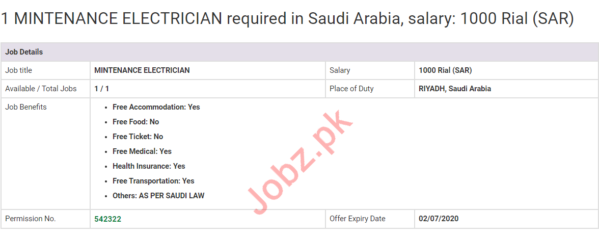 Maintenance Electrician Jobs 2020 in Saudi Arabia