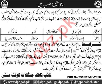 Sweeper Jobs in Conservator of Forests