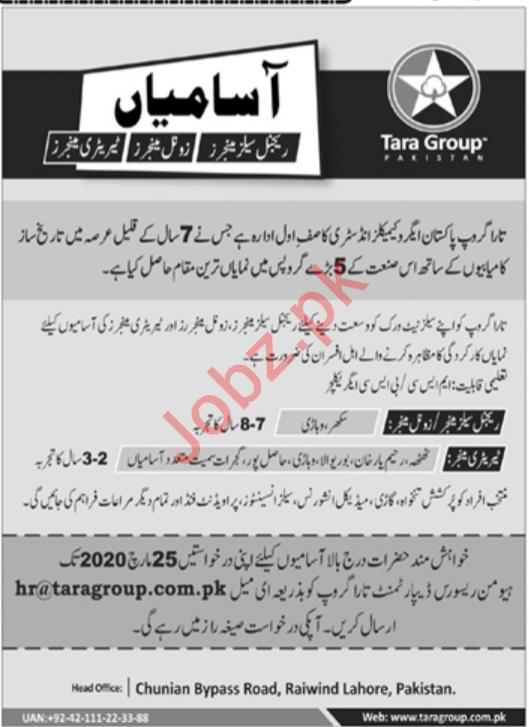 Tara Group Pakistan Jobs 2020