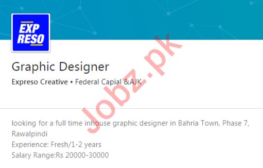 Expreso Creative Rawalpindi Jobs 2020 Graphic Designer
