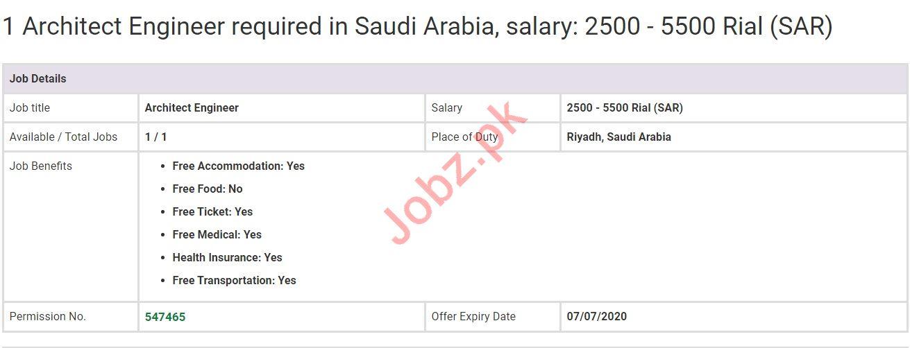 Architect Engineer Jobs in Riyadh Saudi Arabia
