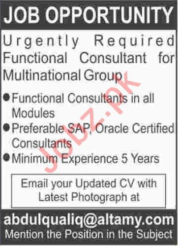 Functional Consultant Jobs 2020 in Karachi