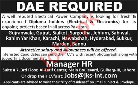 Electrical Power Company Jobs 2020