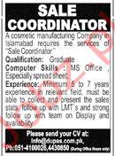 Cosmetics Manufacturing Company Jobs in Islamabad