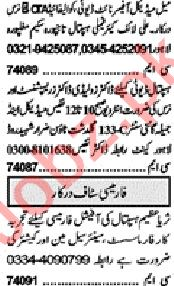 Khabrain Sunday Classified Ads 15th March 2020 for Medical