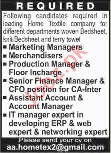 Marketing Managers & Production Managers Jobs 2020