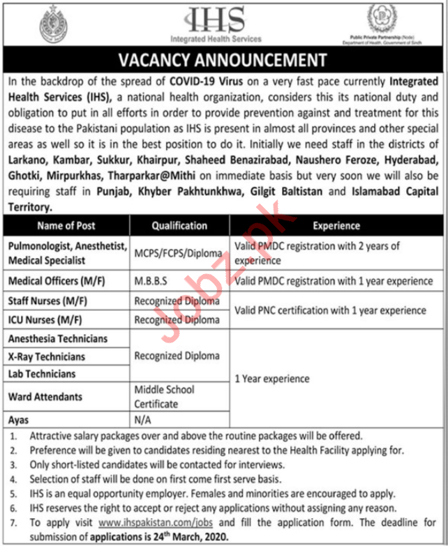 Integrated Health Services IHS Jobs For Medical Staff