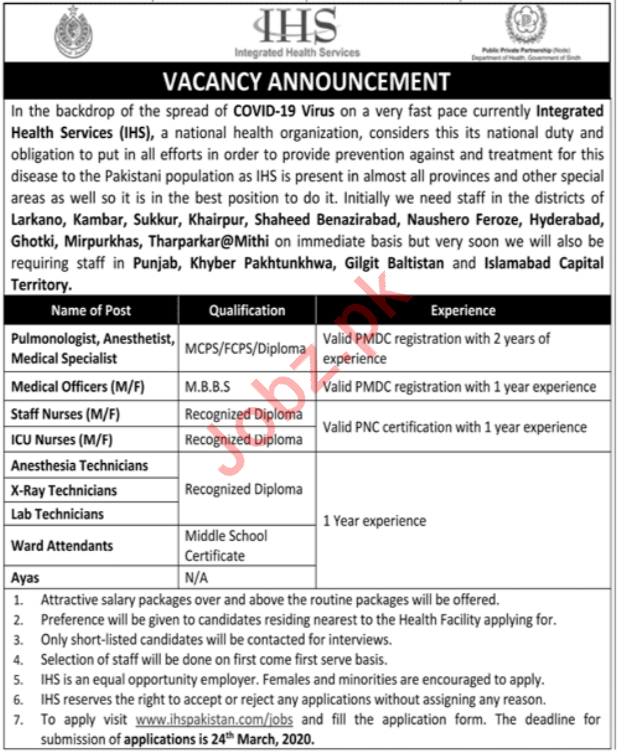 Integrated Health Services IHS Jobs 2020 For Medical Staff