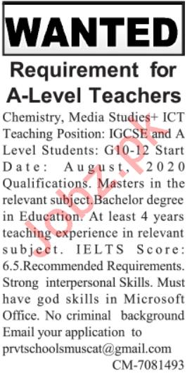 Teaching Staff Jobs 2020 For Islamabad