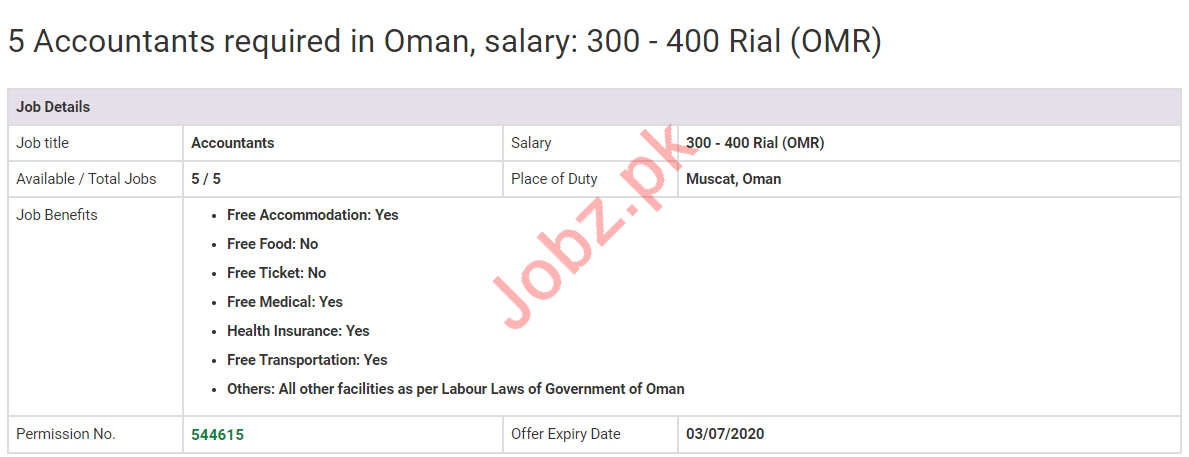 Accountants Jobs 2020 in Muscat Oman