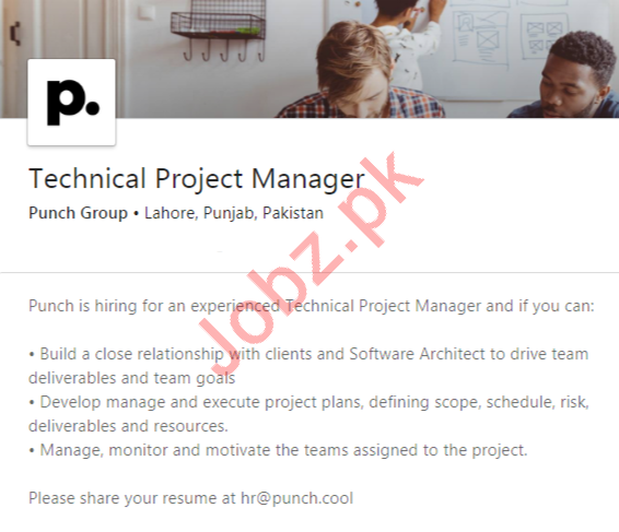 Technical Project Manager Job 2020 For Lahore